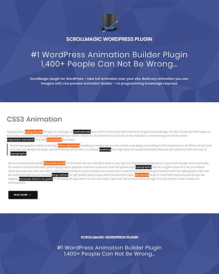 Animation WordPress Plugin