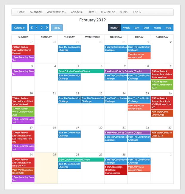Calendarize it WordPress Plugin - Calendar
