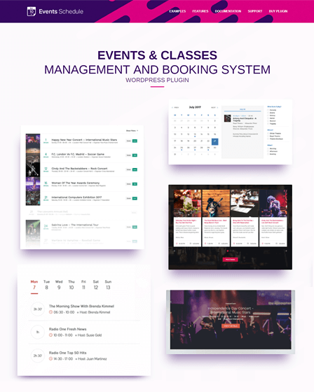 Events Schedule WordPress Plugin