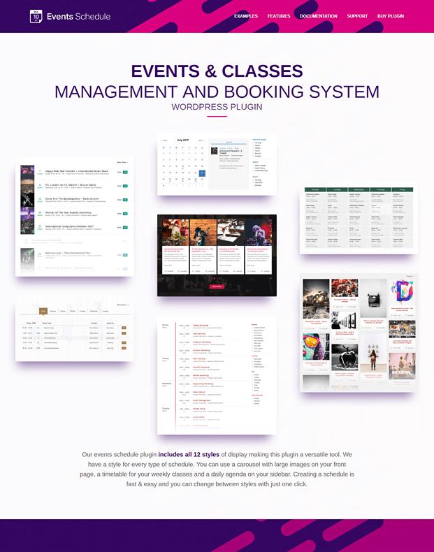 Events Schedule WordPress Plugin - Home