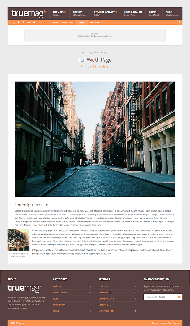 Full Width Page