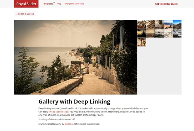 RoyalSlider WordPress Plugin - Gallery With Deep Linking