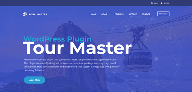 Tour Master Wordpress Plugin - Home