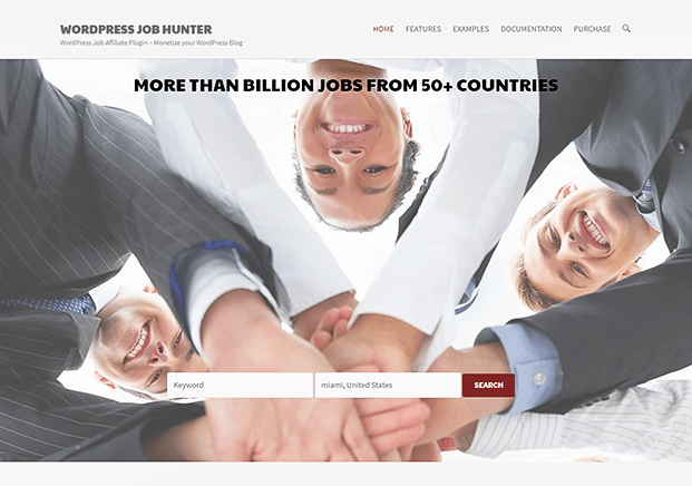 WP Job Hunter WordPress Plugin - Home