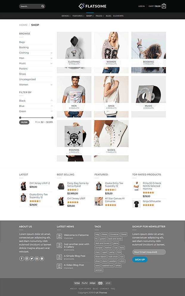 Flatsome Shop Page