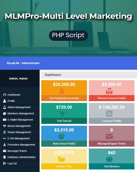 Multi Level Marketing PHP Script