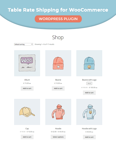 Table Rate Shipping for WooCommerce WordPress plugin