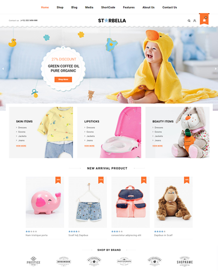 StarBellla WordPress Theme