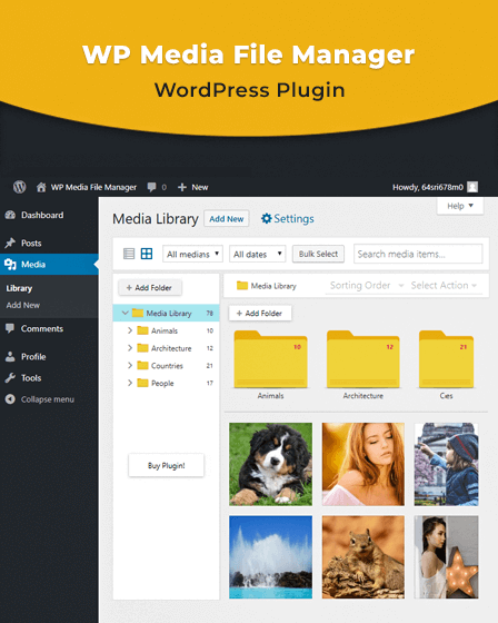 WP Media File Manager Plugin