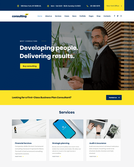 Consulting WordPress Finance theme