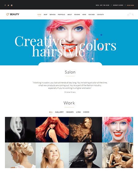 WordPress Hair Salon Theme
