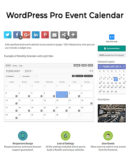 Event Calendar WordPress Plugin