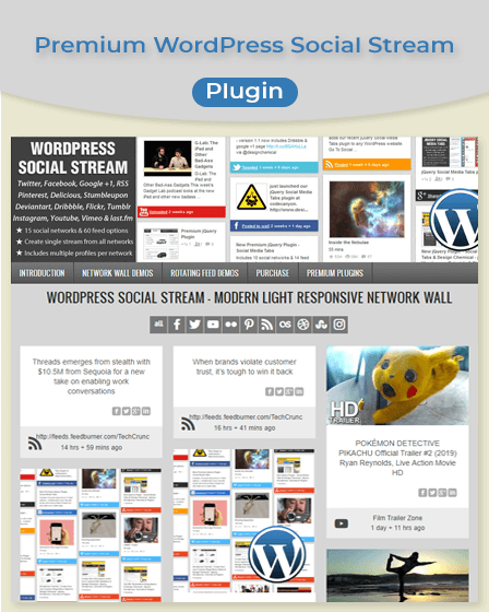 WordPress Social Steam Plugin