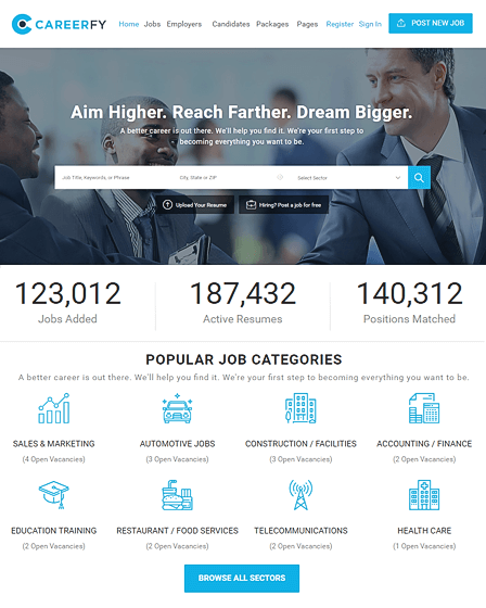 feature image -careerfy - job -portal- wordpress -theme