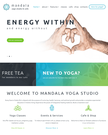 Mandala - Wellness Center WordPress Theme