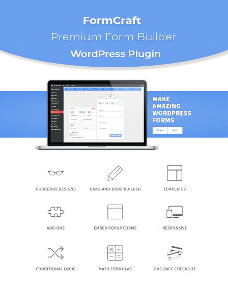 FormCraft Form Builder WordPress Plugin