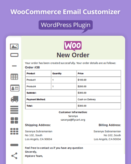 WooCommerce Email Customizer Plugin