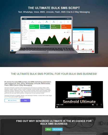 Sendroid Ultimate - PHP SMS Script | InkThemes