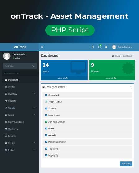 Featured Image - PHP Asset Management Script