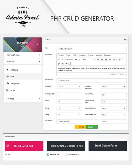 PHP Crud Script