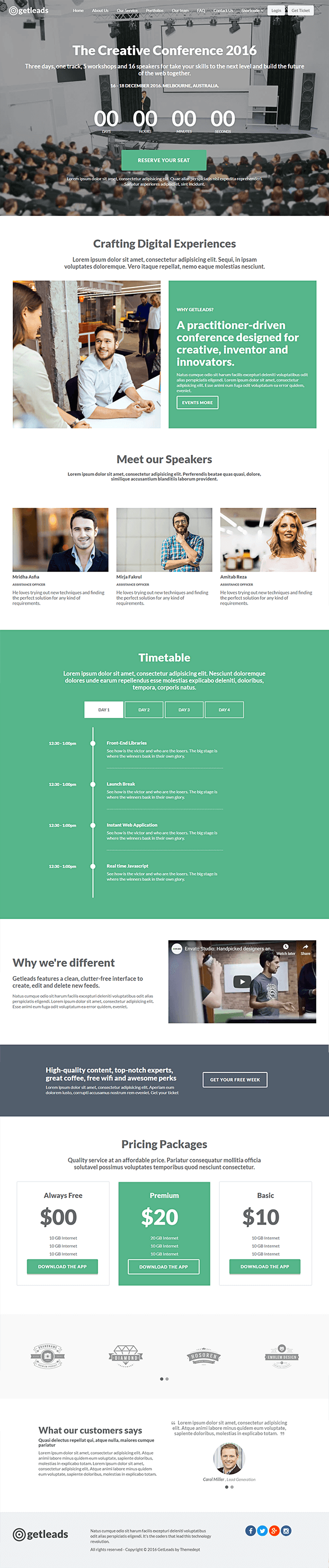 Timer Home Page