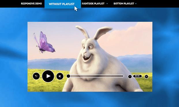 HTML5 Video Player WordPress Plugin - Without Playlist