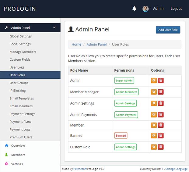 Admin-Panel