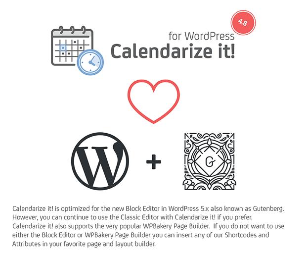 Calendarize it WordPress Plugin - Home