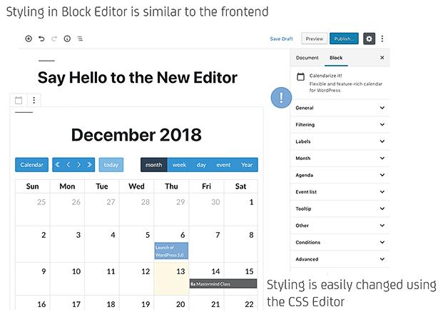 Calendarize it WordPress Plugin - Calendar Editing
