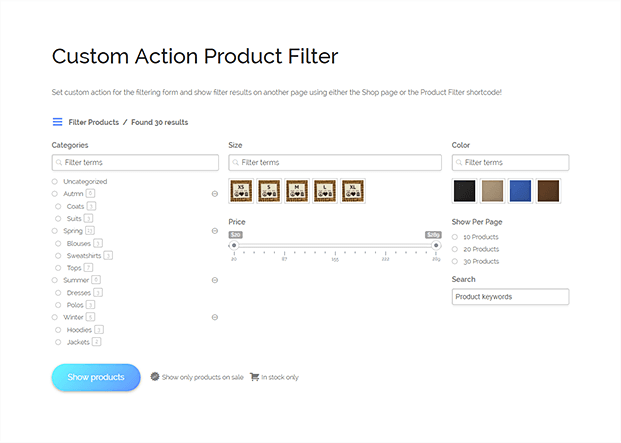 Custom Product Filter