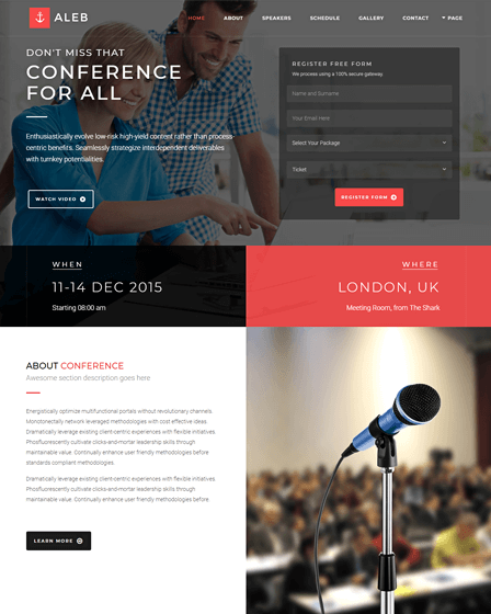 WordPress Theme For Event