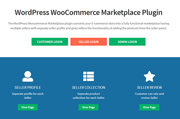 Multi Vendor Marketplace WordPress Plugin - Home