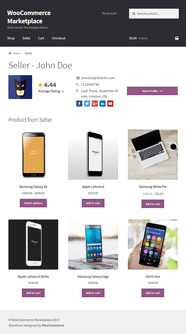 Multi Vendor Marketplace WordPress Plugin - Seller Product Page