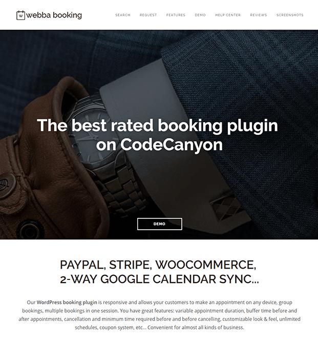 Webba Booking WordPress Plugin - Home
