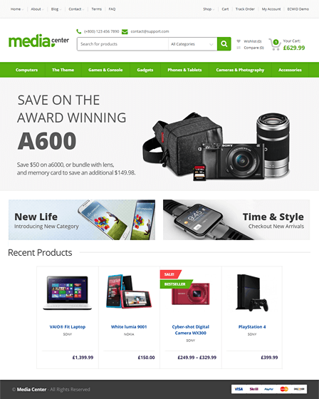 MediaCenter WordPress theme