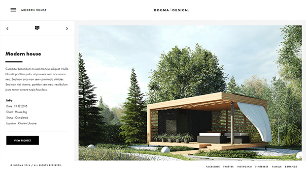 Modern House Page
