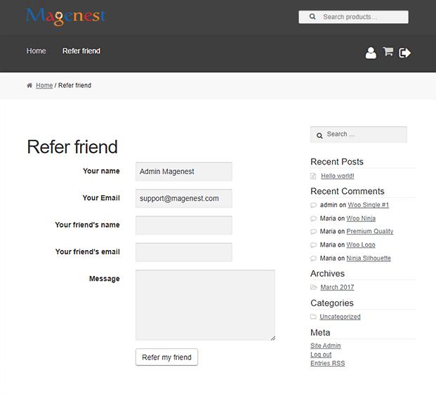 Refer a Friend WordPress Plugin - Refer a Friend