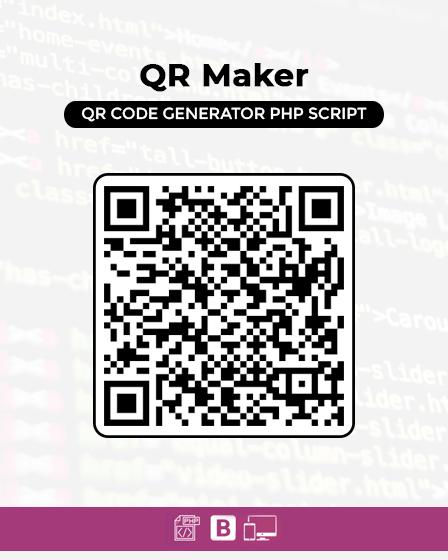 QR Maker - QR Code Generator PHP Script | InkThemes