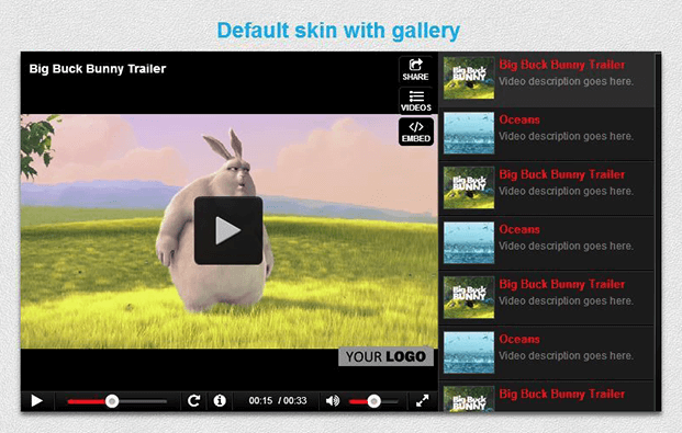 Ultimate Video Player Plugin - Default Skin With Gallery