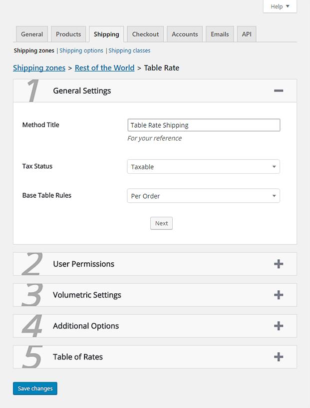 Shipping Setting WordPress plugin