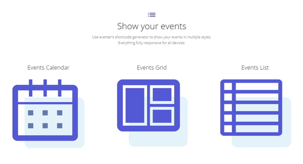 Eventer Event Management Plugin - Various Style Options