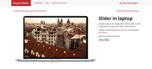 RoyalSlider WordPress Plugin - Slider In Laptop