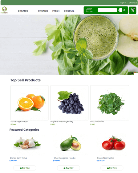 Feature Image E-commerce PHP Script
