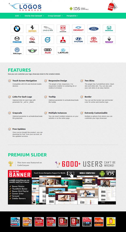 Grid Layout-Logos Showcase WordPress Plugin