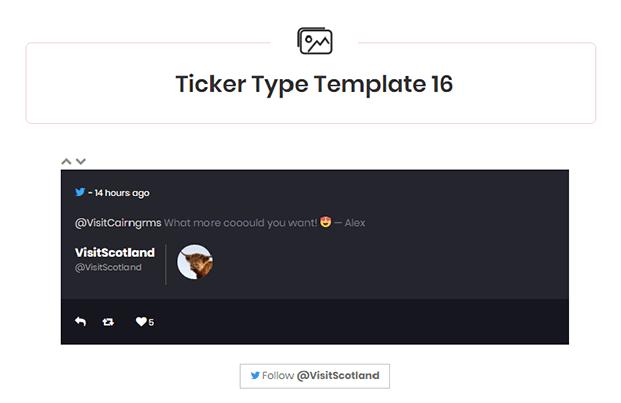 Twitter Feed WordPress Plugin - Ticker Template
