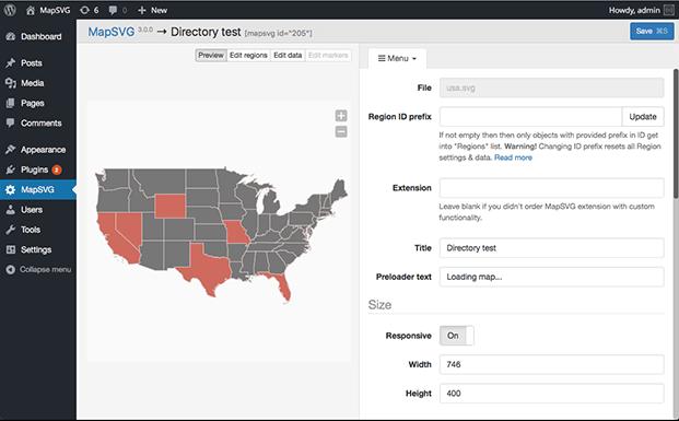 MapSVG WordPress Mapping Plugin - Directory Test