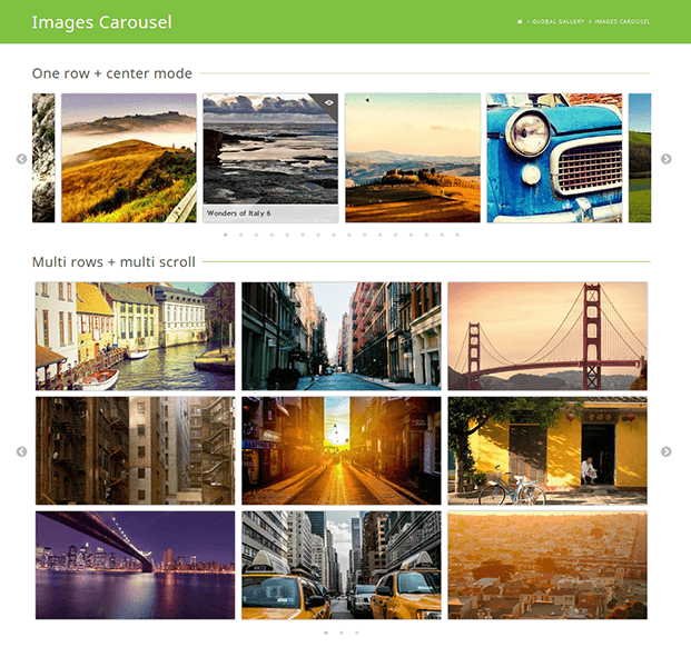 Images Carousel