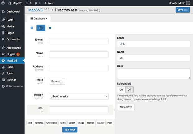 MapSVG WordPress Mapping Plugin - Setting Panel