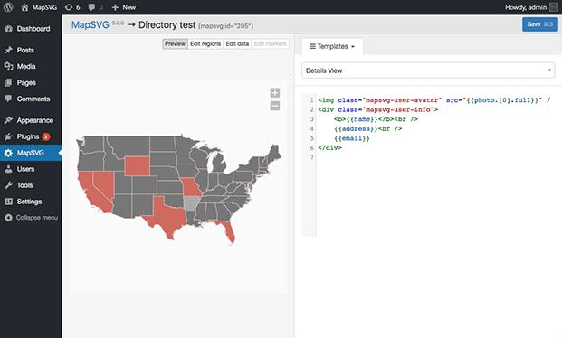 MapSVG WordPress Mapping Plugin - Map Settings