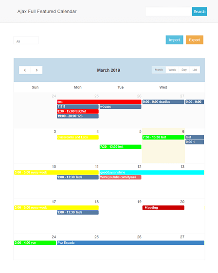 Feature Image - PHP Calendar Script